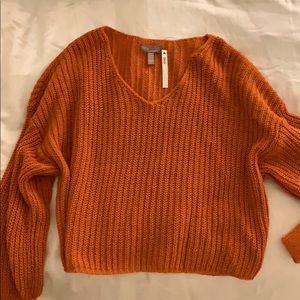 ASOS orange knit sweater